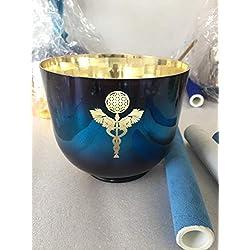 Alchemy - Tazón de cristal para cantar con diseño tallado