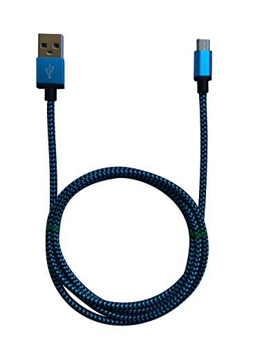 2m MicroUSB a USB de alta velocidad | Cable cargador y de datos | Cable de carga rápida con sección especialmente grande de 4,4 mm | Contactos recubiertos de oro 24 k | para Android, Samsung, HTC, Motorola, Nokia, LG, HP, Sony, Blackberry y más