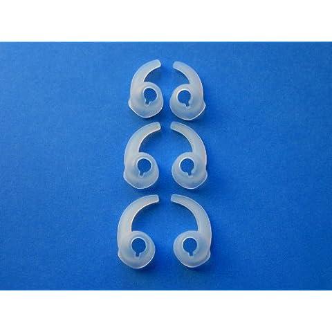 6 Piezas - 3 Pares S / M / L Izquierda y Derecha Oído Estabilizadores Ayudantes Olivas para Auriculares In-Ear