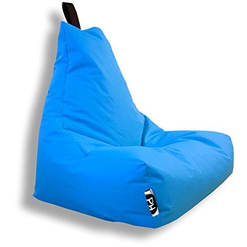 Patchhome Lounge Sessel XXL Gamer Sessel Sitzsack Sessel Sitzkissen In & Outdoor geeignet fertig befüllt | XXL - Königsblau - in 2 Größen und 25 Farben
