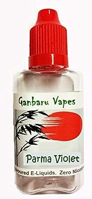 Ganbaru Vapes Parma Violet High Quality E-Juice E-Liquid Super Juicy Flavours Zero Nicotine 30ml by Flavour World