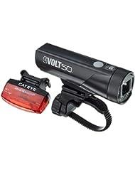 CATEYE Gvolt 50 Rapid Micro Beleuchtungsset, Schwarz/Rot, One Size