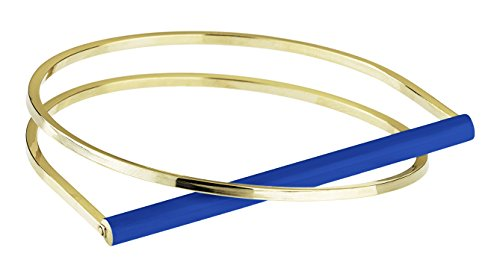 Uncommon Matters Bracelet jonc Plaqué Or Unisexe bleu