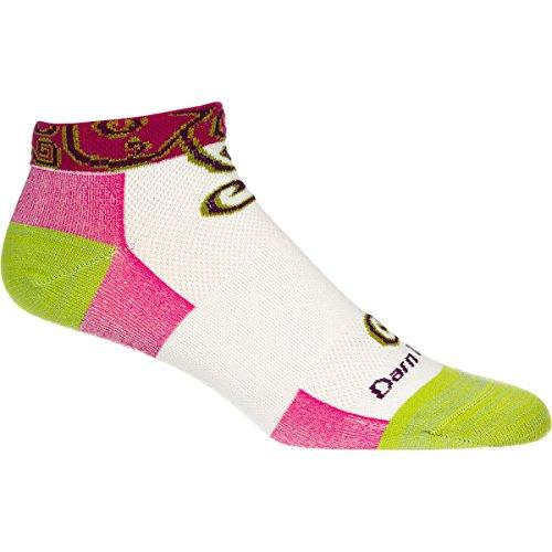 Darn Tough Vermont Damen Merino Wolle No-Show Spiralen Ultraleichte Athletic Socken, Herren damen, Spiral Ivory (Socken No-show Wolle Merino)