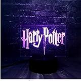 Veilleuse 3D Led Veilleuse Pour Enfant Harry Potter Chambre Sommeil Lumière 7 Changement De Couleur Télécommande Garçon Enfan