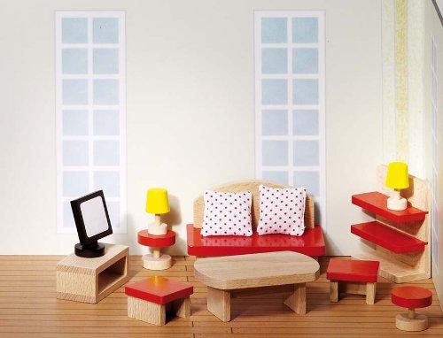Goki Puppenhaus-Wohnzimmer Set aus Holz (51716)