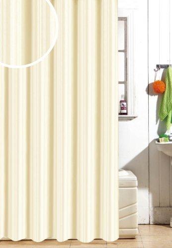 Tenda per Il Bagno Extra-Large Adatta per Doccia o Vasca Tende per Doccia Impermeabili con 12 Anelli per Il Montaggio Bianco mDesign Tenda Doccia in Tessuto di Poliestere