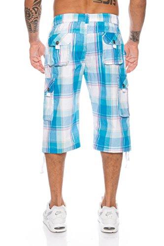 ... Herren Bermuda Shorts Kurze Hose Karo Bunt S M L XL XXL MK 308 Türkis
