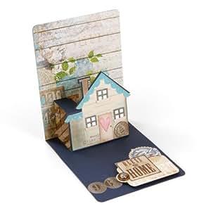 Pop 'n Cuts Magnetic Insert Die- House, 3-D, by Karen Burniston