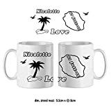 Mug de l'Ile de la Réunion Personnalisable avec un Prénom Exemple Nicolette...