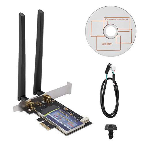 Simlug Drahtlose Netzwerkkarte, Dualband-WiFi-Karte mit 1300 Mbit/s und Bluetooth 4.0 für PCI-E-Desktop-PC (Wifi-adapter Yosemite)