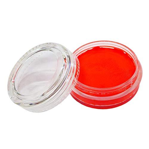 P Prettyia Fluoreszenz Schminkset Schminke Make Up Bodypainting Tiermasken Halloween Facepainting Make-up - rot orange