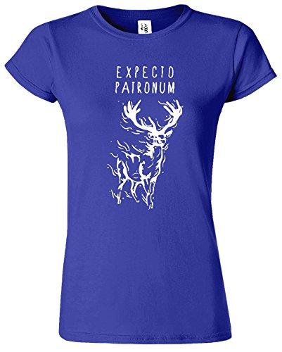 Expecto Patronum Dames T Top Nouveau Drole T-Shirt Cobalt / Blanc Design