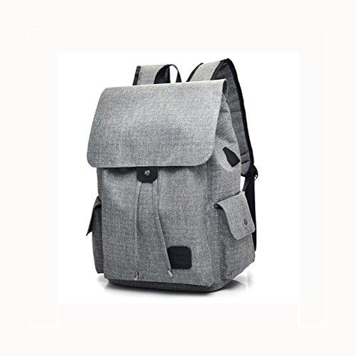 16 Hafen-faser (Backpack Laptop Rucksack 16 Zoll Mit USB aufladen Hafen , grey)