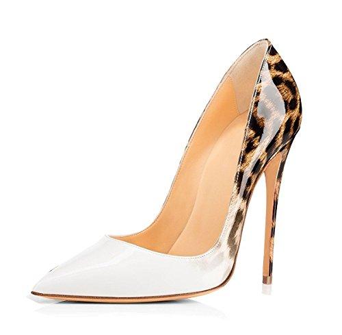 Escarpins 120mm Grande High Chaussures Femme EDEFS Taille Sexy Talon Aiguille White Heel Fade 1Xnaw