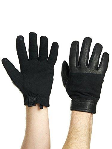 Timberland Mens Deerskin and Suede Glove Black