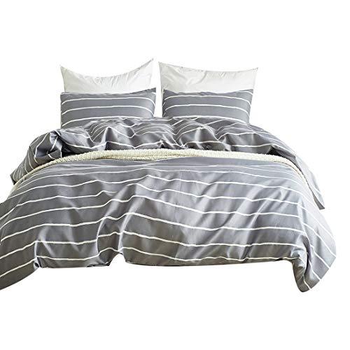 FORCHEER Leicht Mikrofaser Bettbezug Set, Floral Print Muster Tagesdecke Überwurf Set, 3Teilig Oversize Quilt Set mit Kissen/Bezügen Twin Pattern201801 -