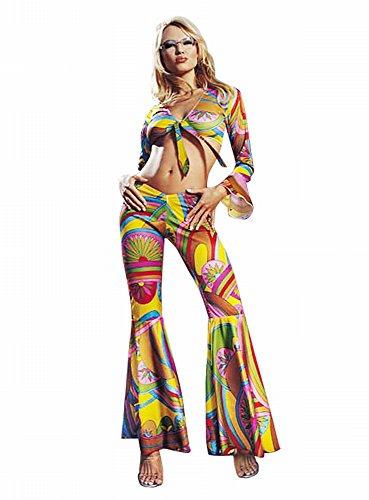 Hippie Damen Sexy Kostüm - Leg Avenue - 2-teilig Sixties Hippie Kostüm - Gr. M/L - 8649
