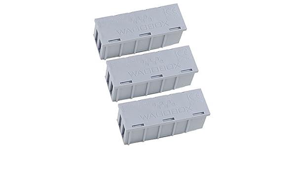 Lot de 6 WAGOBOX boîtes de jonction pour utilisation avec WAGO 223 /& 773 Connecteurs