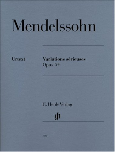 Variations sérieuses op 54. Klavier