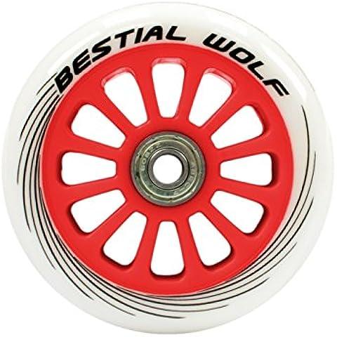 Rueda para Patinete Scooter Roja de 100mm (una unidad) - Wheel