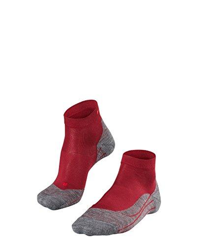 FALKE Damen Socken Laufsocken RU4 Short - 1 Paar, Gr. 41-42, rot, feuchtigkeitsregulierend, Sportsocken Running