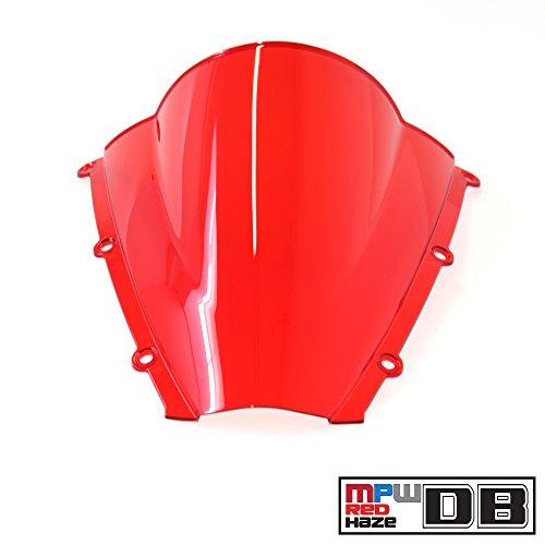 MPW wsc-db-red-hon-0001doble burbuja Protector de tintado Honda CBR 600RR 03–04, color rojo