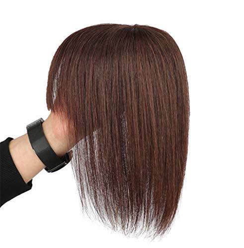 Remy-Echthaaraufsatz zum Einklippen mit Pony, Kronen-Haarteile für Damen mit dünner werdendem Haar -