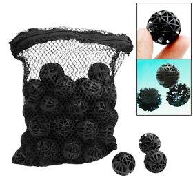 SODIAL(R) 50 x Noir Filtre de bio-boule Filtration Pour aquarium