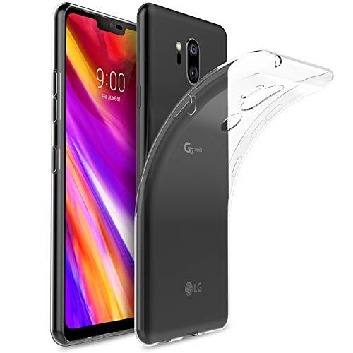 Yocktec Cover per LG G8S ThinQ, Ultra-Sottile Trasparente Silicone Case in Gel TPU, [Resistente ai Graffi] [Shock Absorption] Custodia per LG G8S ThinQ Smartphone