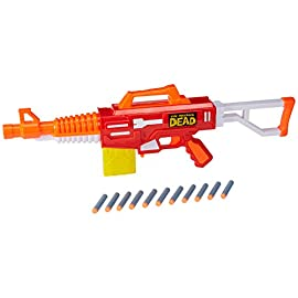 Alex Brands Air Warriors THE WALKING DEAD Abrahams M16 Zombie Blaster (kompatibel mit Nerf-Darts & Magazinen)
