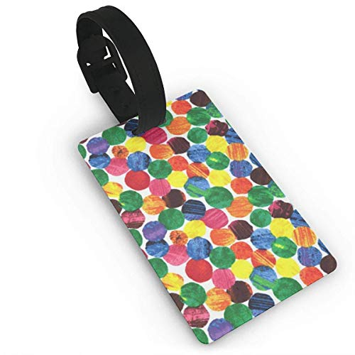 The Very Hungry Caterpillar Abstract Dots with Print for Suitcases,Flexible PVC Travel ID Identification for Bags & Baggage Size 2.2 X 3.7 inches