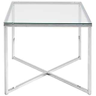 AC Design Furniture Regal Gurli, B: 50 T: 50 H: 45 cm, Glas, Klar