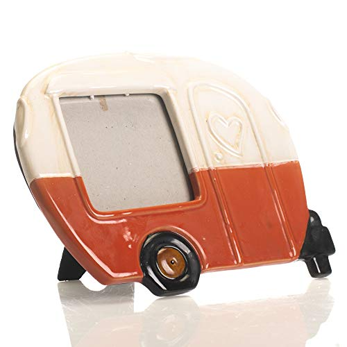 Drew Derose Orange glänzend Skurril Camper Wohnmobil-4x 6Keramik Wand und Tischplatte Rahmen