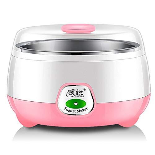Yogurt maker macchina timer impostabile yogurt macchina acciaio inossidabile elettrico congelato automatico fatto in casa fresco sano due colori per scegliere il formato 110 * 165mm ( colore : pink )