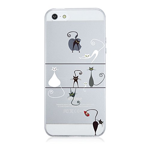 qissyr-tpu-case-cover-for-apple-iphone-5-5s-se-fiori-rosa-soft-tpu-silicone-trasparente-cristallo-pa