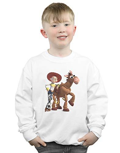 Disney Jungen Toy Story 4 Jessie and Bullseye Sweatshirt Weiß 12-13 Years