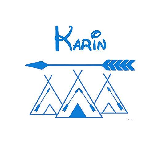 Kunstwand Kinderzimmer Kundenspezifische Name Wandaufkleber Personalisierte Namen Aufkleber Tribal Arrow Mountains Removable Wallpaper Wohnkultur 57X45 CM