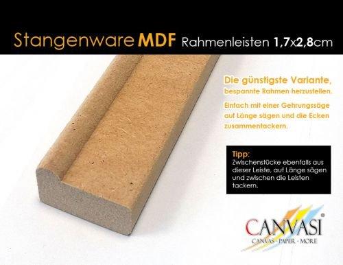 Rahmenleiste MDF 17 x 28 - Leistenlänge: 2,62 Meter