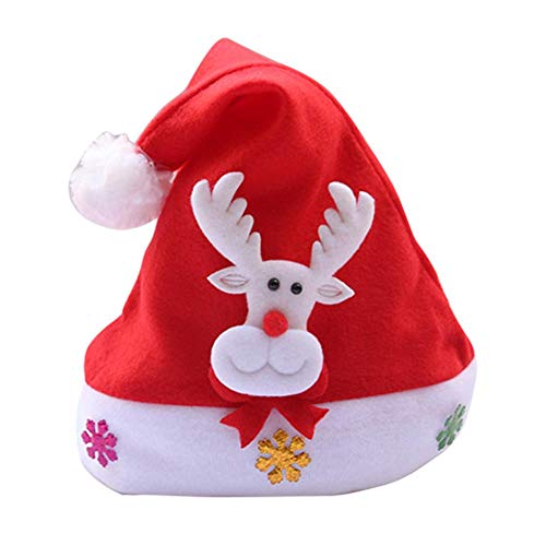 supertop Weihnachtsschmuck, niedliche Weihnachten LED Licht Hut Cartoon Deer Elch Schneemann Weihnachten Kappe Erwachsene Kinder Weihnachten Stocking Füllstoffe
