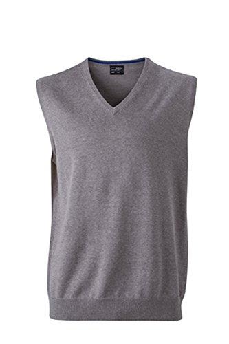 Klassischer Herren -Baumwoll-Pullunder XL,grey-heather