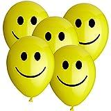 10 Luftballons Smiley Gelb 30cm Durchmesser
