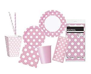 Unique Party- Party Kit, Color rosa claro (63821)