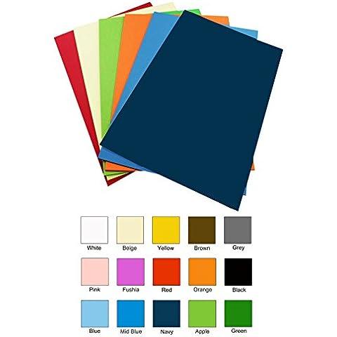 Ice-Tees - Fogli termoadesivi in vinile per tessuto, 10 pezzi, formato A4, colori assortiti - Tessuto Fogli Cotone