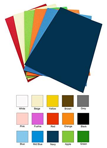 Lot de 10 feuilles A4 de papier transfert en vinyle Couleurs assorties