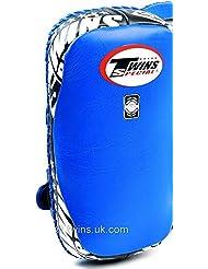 Twins Thai Kick almohadillas de piel curvado azul tailandesa Focus Pads