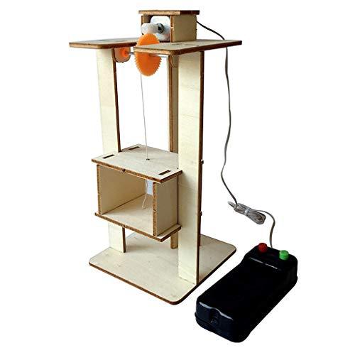 ug DIY Montieren Elektrische Aufzug Spielzeug Kinder Wissenschaftliches Experiment Material Kits Spielzeug Geschenk Pädagogisches Geschenk Spielzeug für Kinder ()