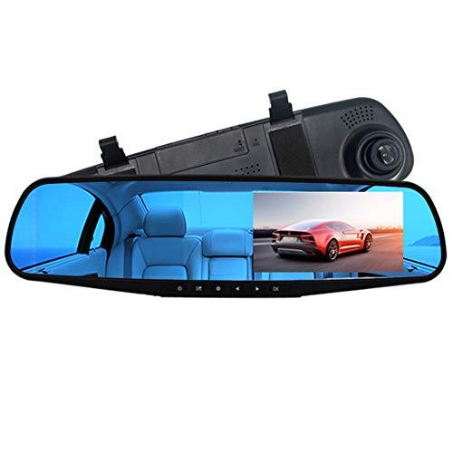 omufipw Ein-/Zweilinsen-Auto-Recorder, Full HD Video, 170° Weitwinkelobjektiv, Rückspiegel, Dashcam