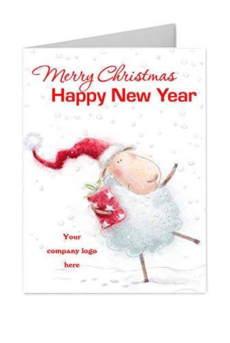 10x Natale personalizzato nuovi anni Corporate Logo famiglia biglietti di auguri A6piegati