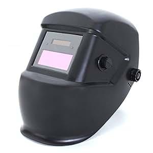 AUDEW Masque De Soudure Cagoule Casque Soudage Solaire Automatique(Utiliser Energie Solaire pour Recharge)Protection de Visage Noir